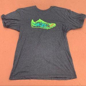 Blue saucony running t-shirt